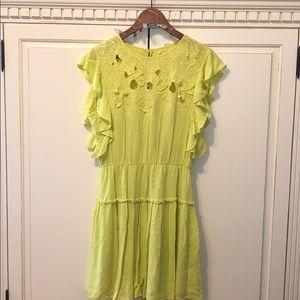 BCBG Maxazria Lime Green Dress